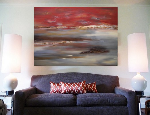 0 FB 1321 Red Landscape - create a mood for a room