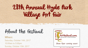 Michelle Hinz at Hyde Park Village Art Fair 2017 @ Hyde Park Village | Tampa | Florida | United States