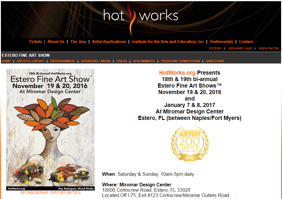 Michelle Hinz at Estero Fine Art Show @ Miromar Design Center | Estero | Florida | United States