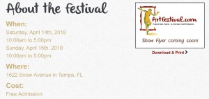 Michelle Hinz at Hyde Park Village Art Festival @ Hyde Park Village | Tampa | Florida | United States