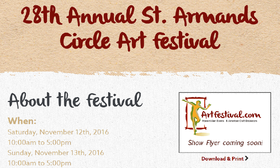 Michelle Hinz at 28th St. Armands Circle Art Festival @ St. Armands Circle in Sarasota, FL | Sarasota | Florida | United States