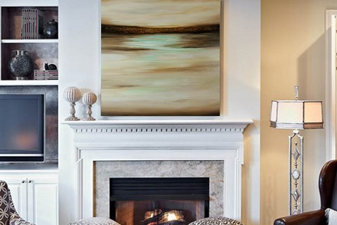 Landscape over fireplace 2